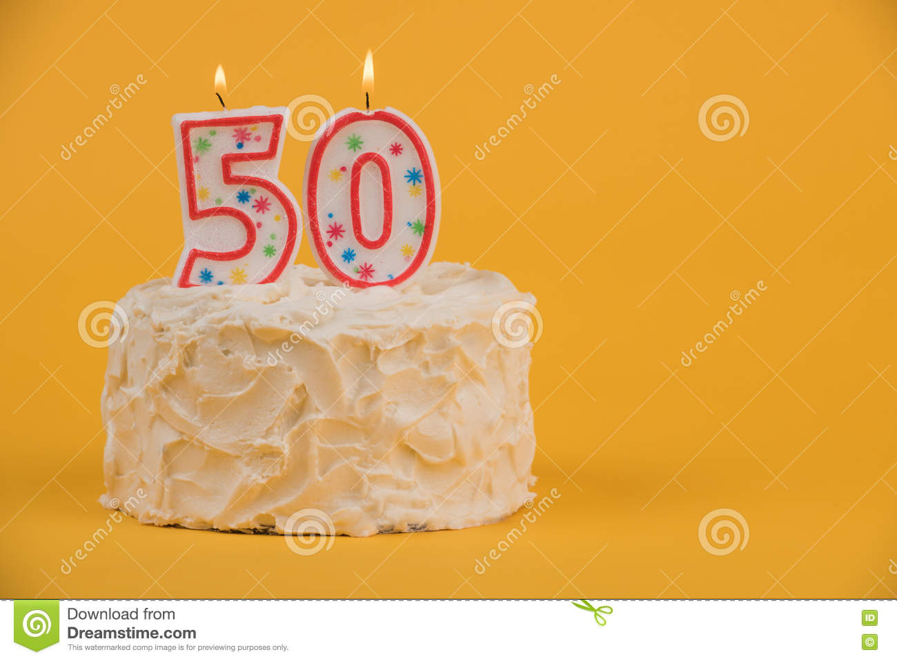 50th Birthday Cake Stock Image Of Fiftieth Sugar