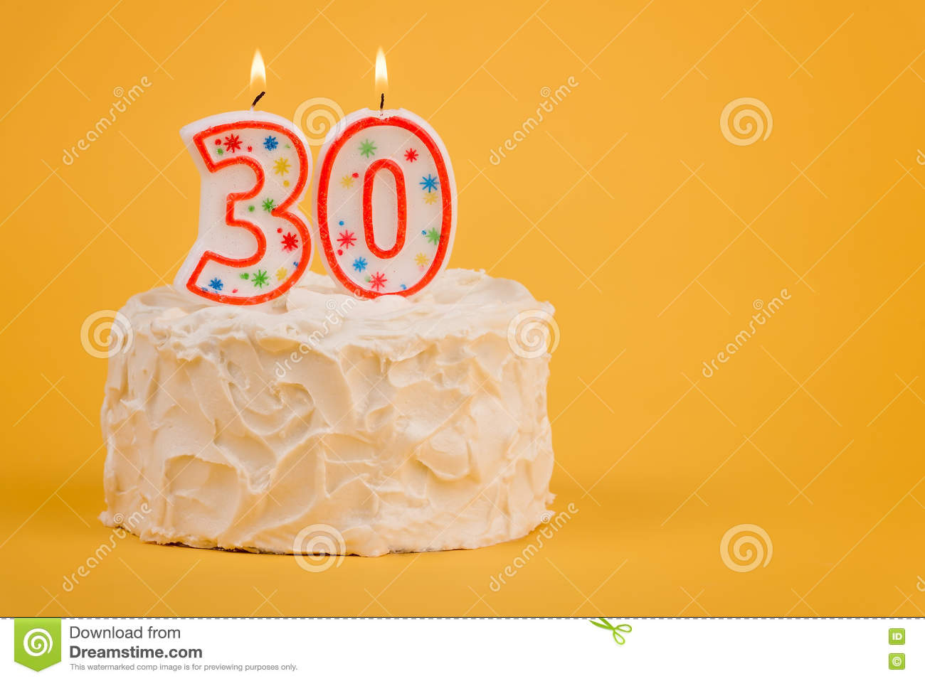 30th Birthday Cake Stock Image Of Whipped Background