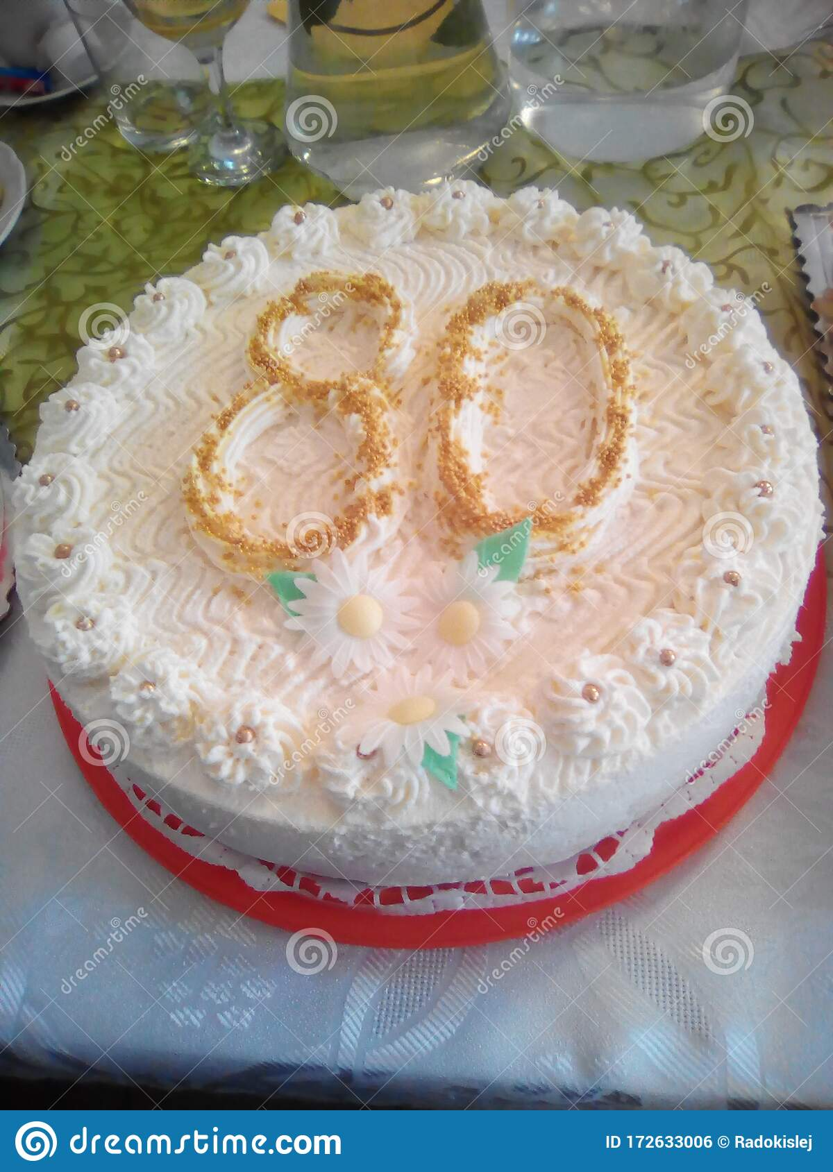 Miraculous 80Th Birthday Cake We Will Not Follow The Diet Stock Photo Funny Birthday Cards Online Alyptdamsfinfo