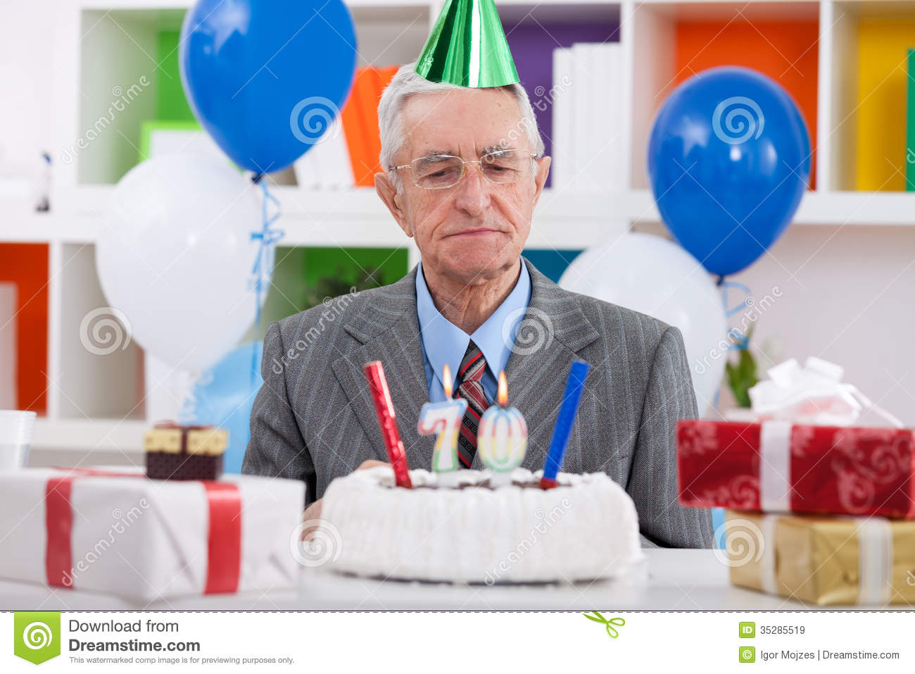 70th Birthday Stock Image Image Of Occasion Gray Candles 35285519