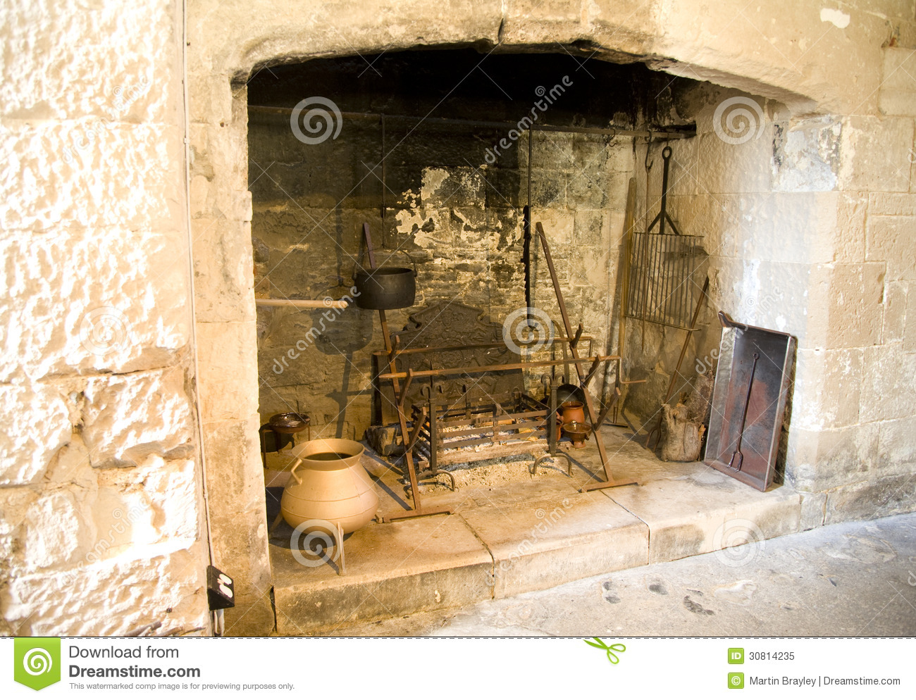 16th Century Fireplace Royalty Free Stock Photo - Image: 30814235