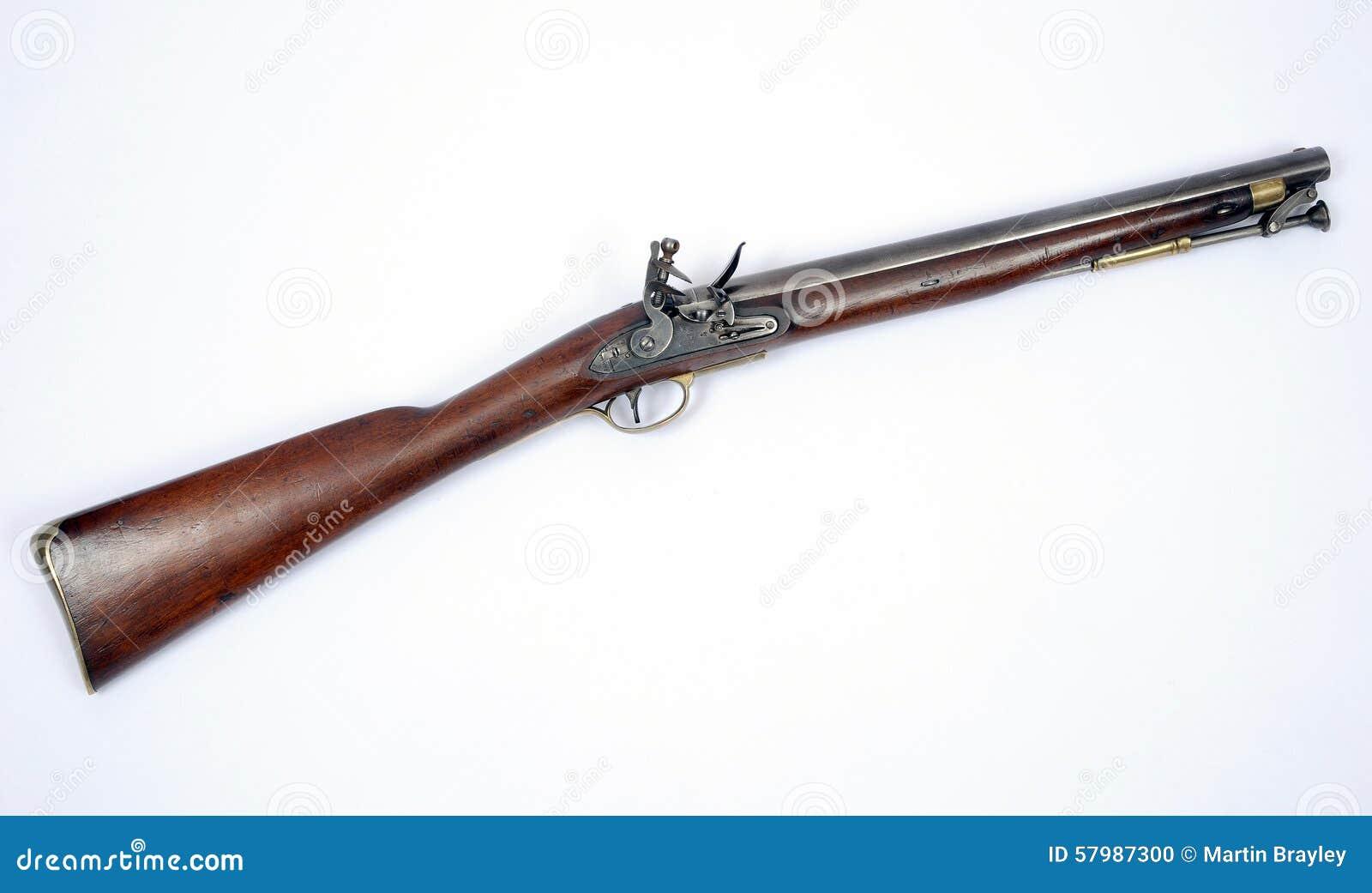 19th Century Flintlock Paget Cavalry Carbine Stock Photo - Image of