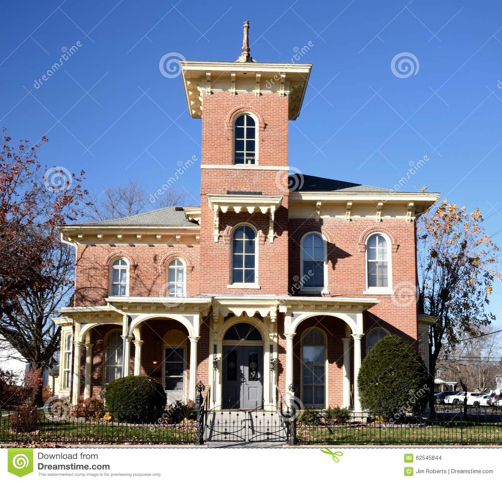 Mt Pleasant Iowa >> 19th Century Italianate editorial stock image. Image of ...