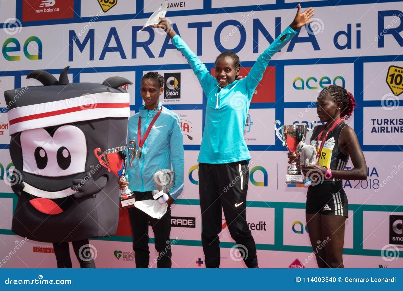 24th Edition Of The Rome Marathon, Women`s Award Ceremony ...