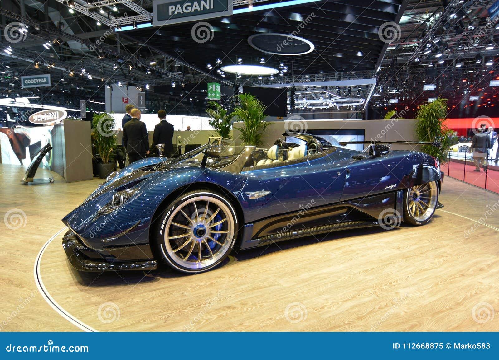 88th Exposicao Automovel Internacional 2018 De Genebra Pagani Zonda Hp Barchetta Imagem Editorial Imagem De Automovel Internacional 112668875