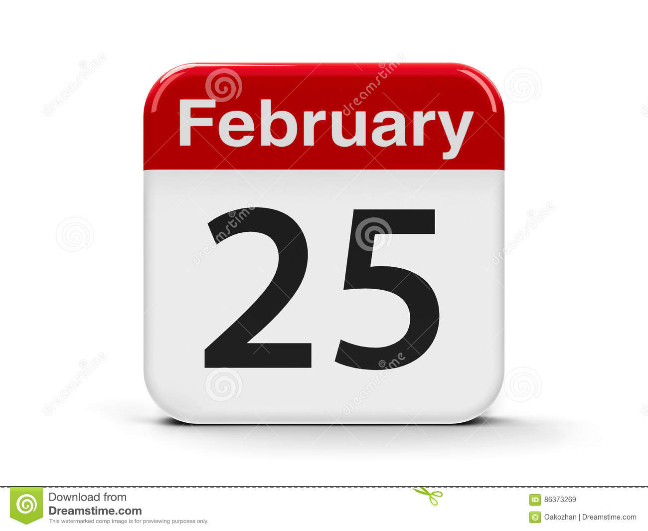 Image result for 25th february calendar
