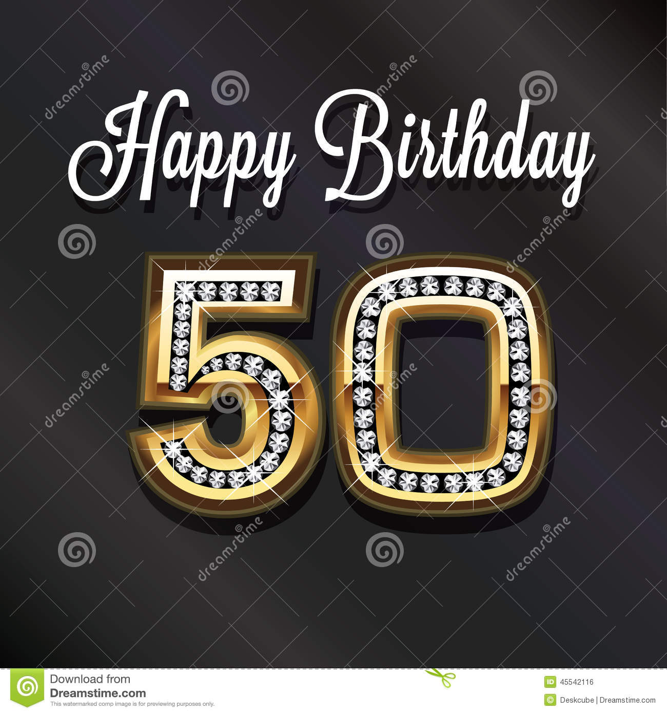 50th Happy Birthday Anniversary Stock Illustration