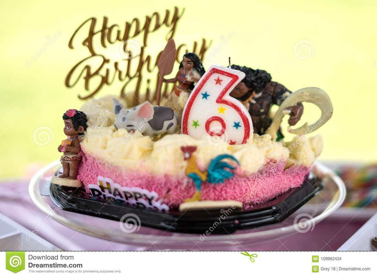 Pleasing Party Gifting Colorful Number Six Candle With Happy Birthday Personalised Birthday Cards Veneteletsinfo