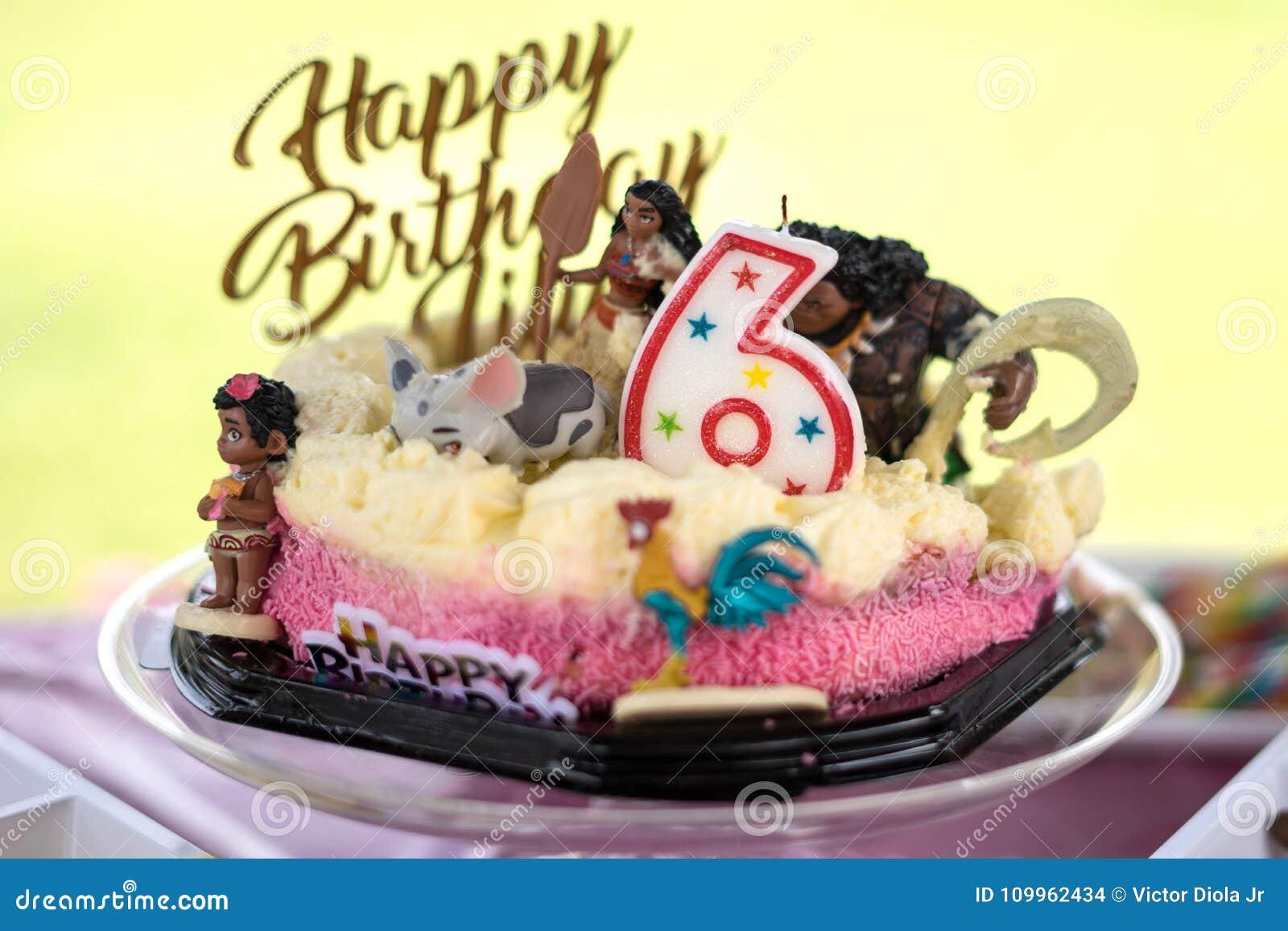 6th Happy Birthday Cake