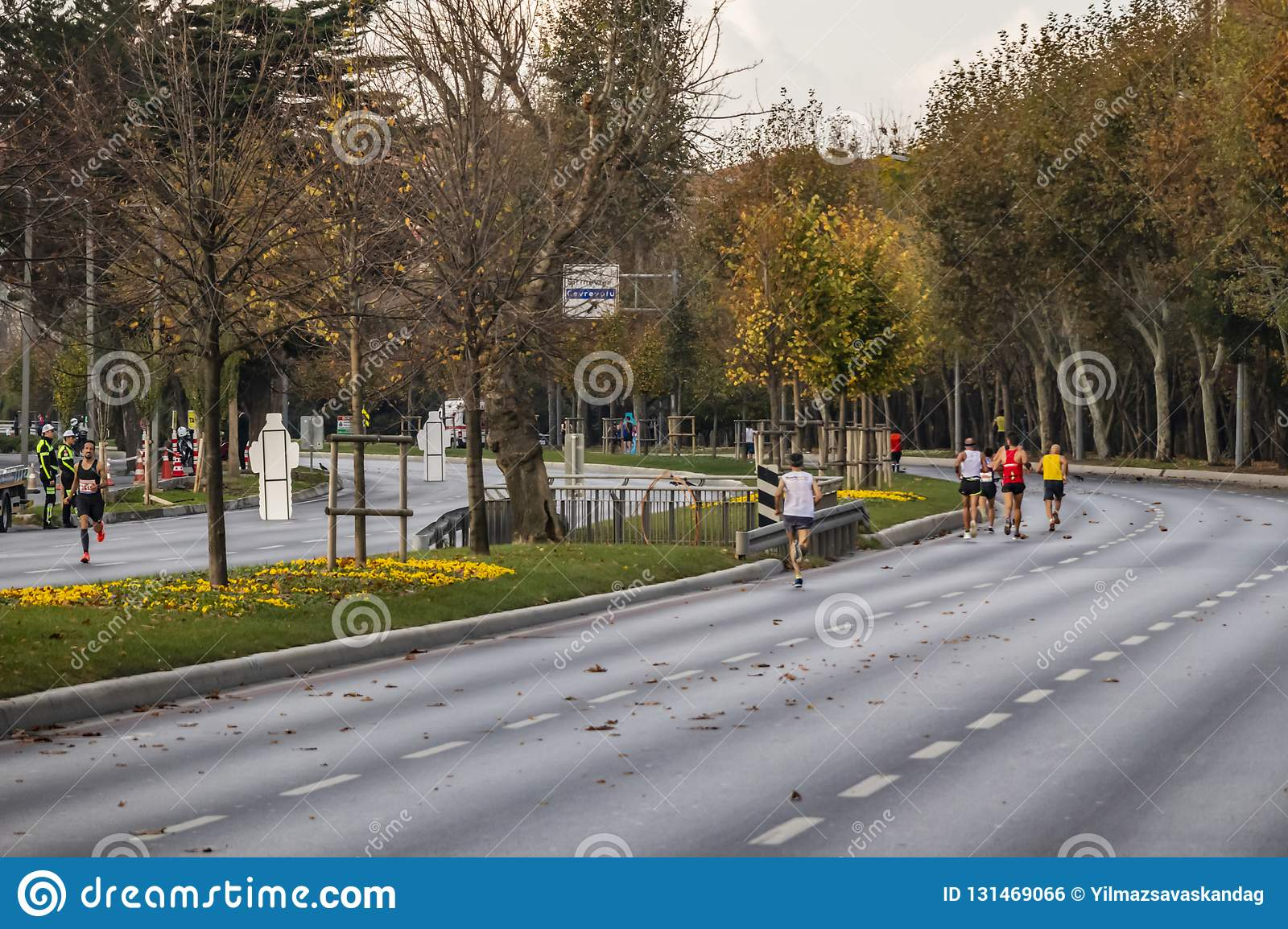 40th internationella istanbul maraton och idrottsman nen