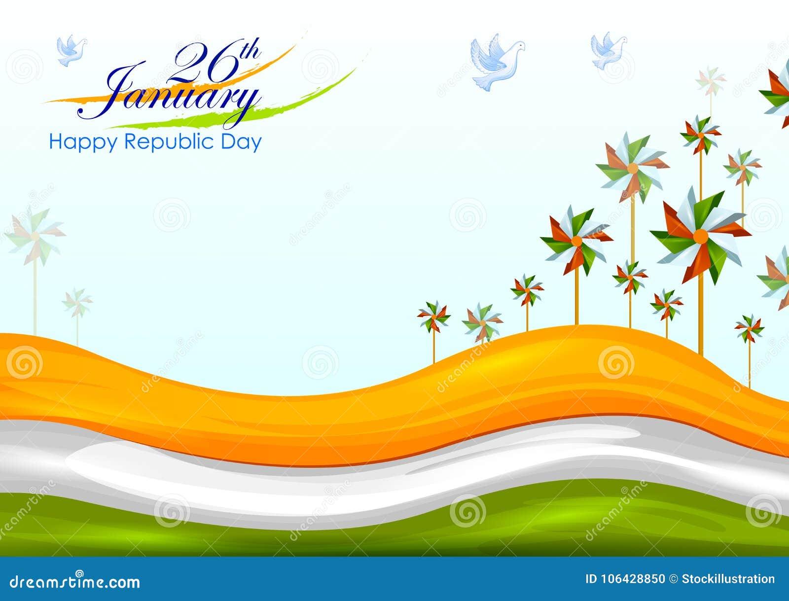 26th Januari, lycklig republikdag av Indien