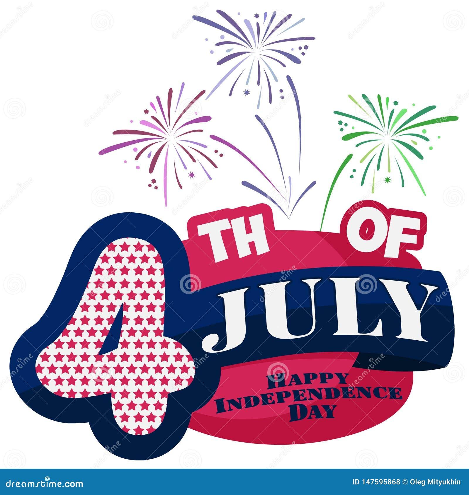 4th juli lycklig sj?lvst?ndighet f?r dag USA Amerika tillst?nd f?renade Ljus bakgrund fj?rde juli patriotiskt Vektorillustrati
