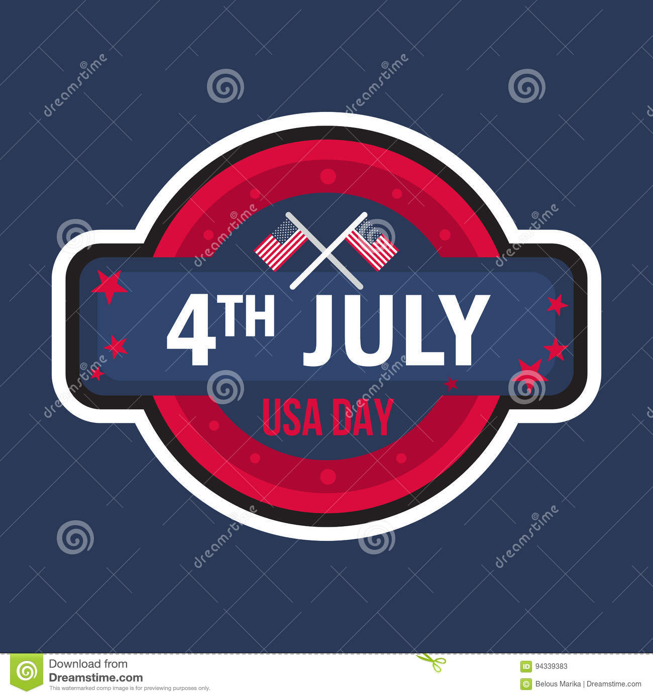 4th july day stock illustration illustration of holiday 94339383 4th july usa independence day celebration banner national american greeting vector m4hsunfo