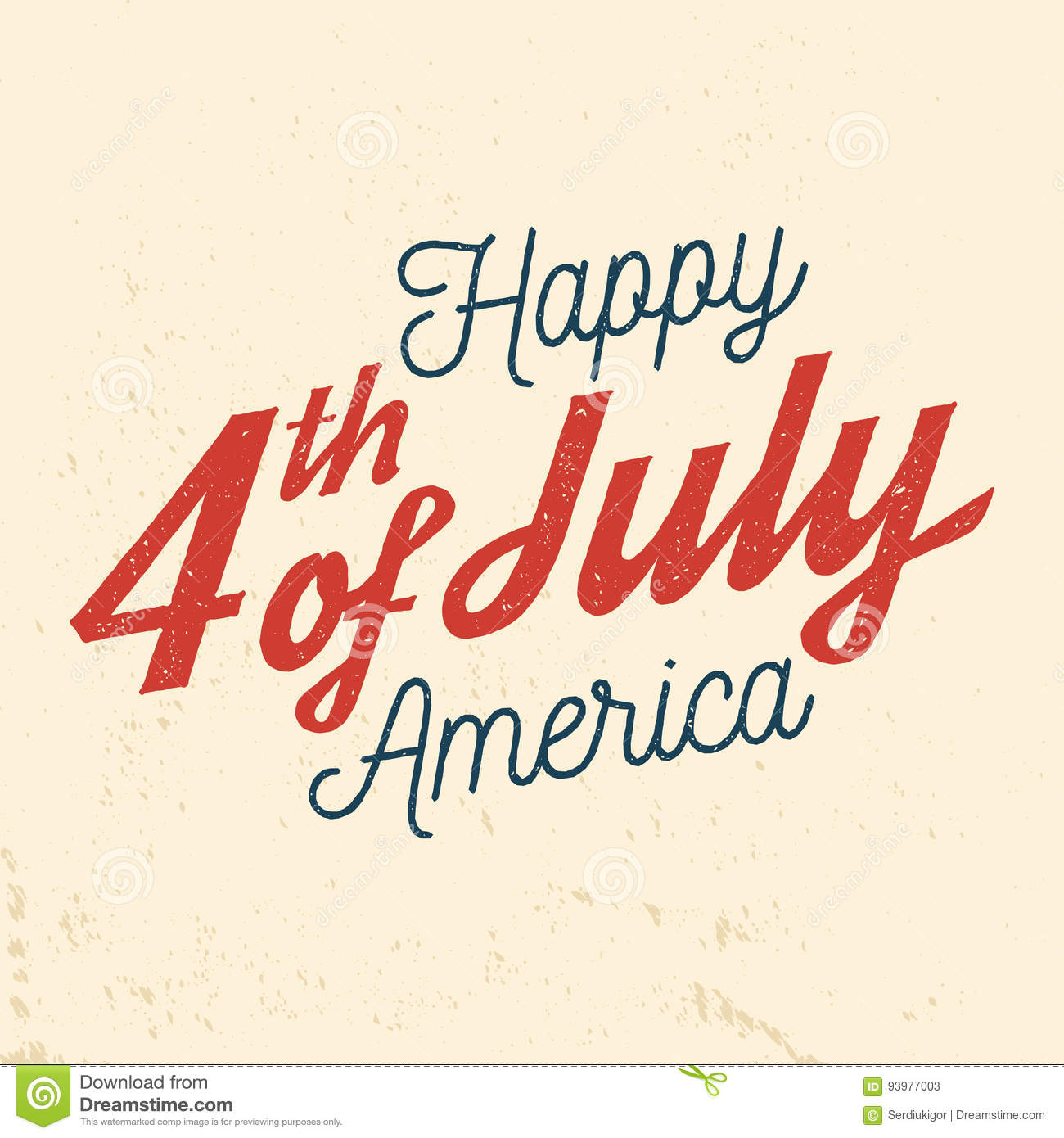 474d9a42838ed9 4th Of July Design In Retro Style. Stock Vector - Illustration of ...