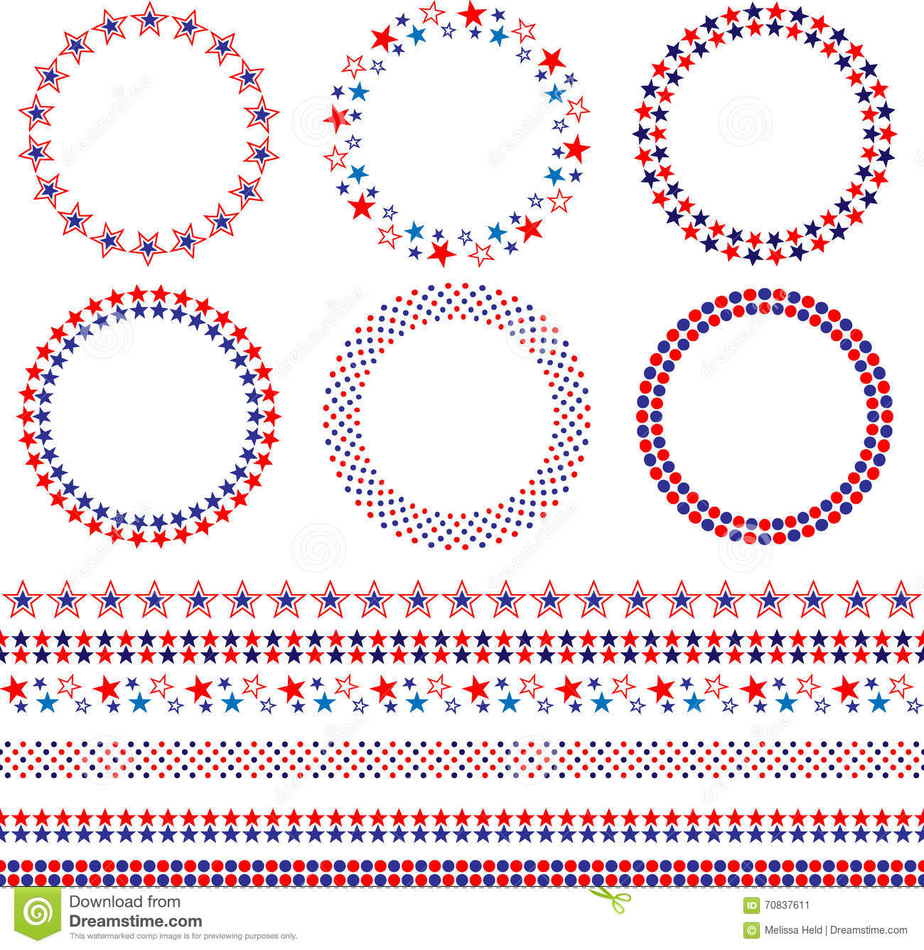 Pictures Of Red White And Blue Borders With Corners Kidskunstinfo