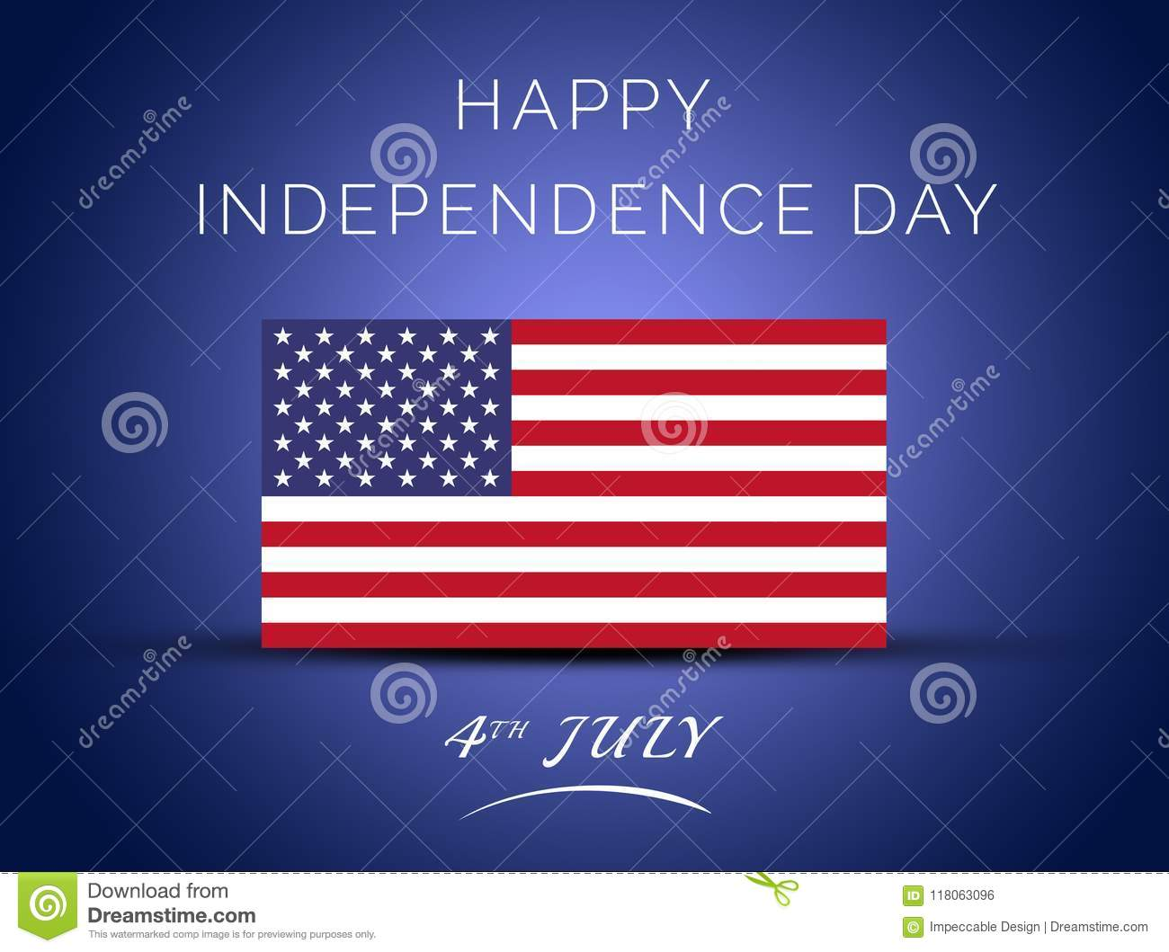 4th Of July Happy Independence Day Of United States Of America