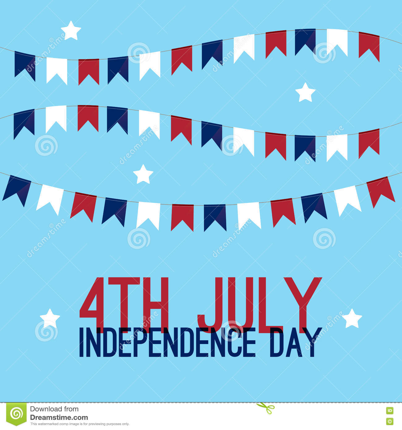 4th Of July Independence Day In United States Of America Greeting