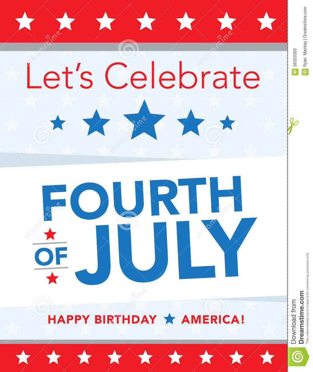 4th Of July Poster Stock Vector Image 56353393