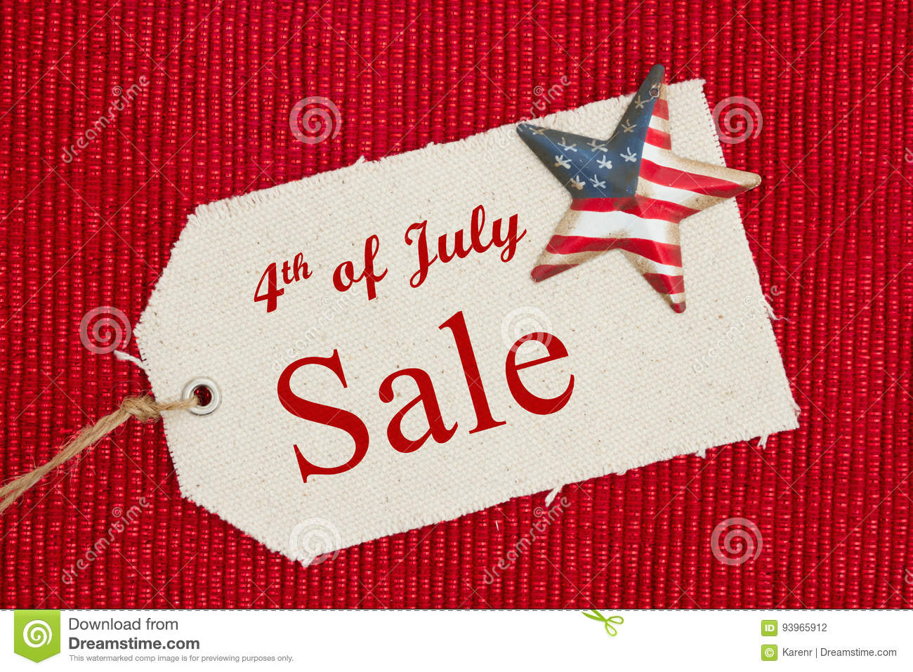 4th Of July Sale Message Stock Photo Image Of American 93965912