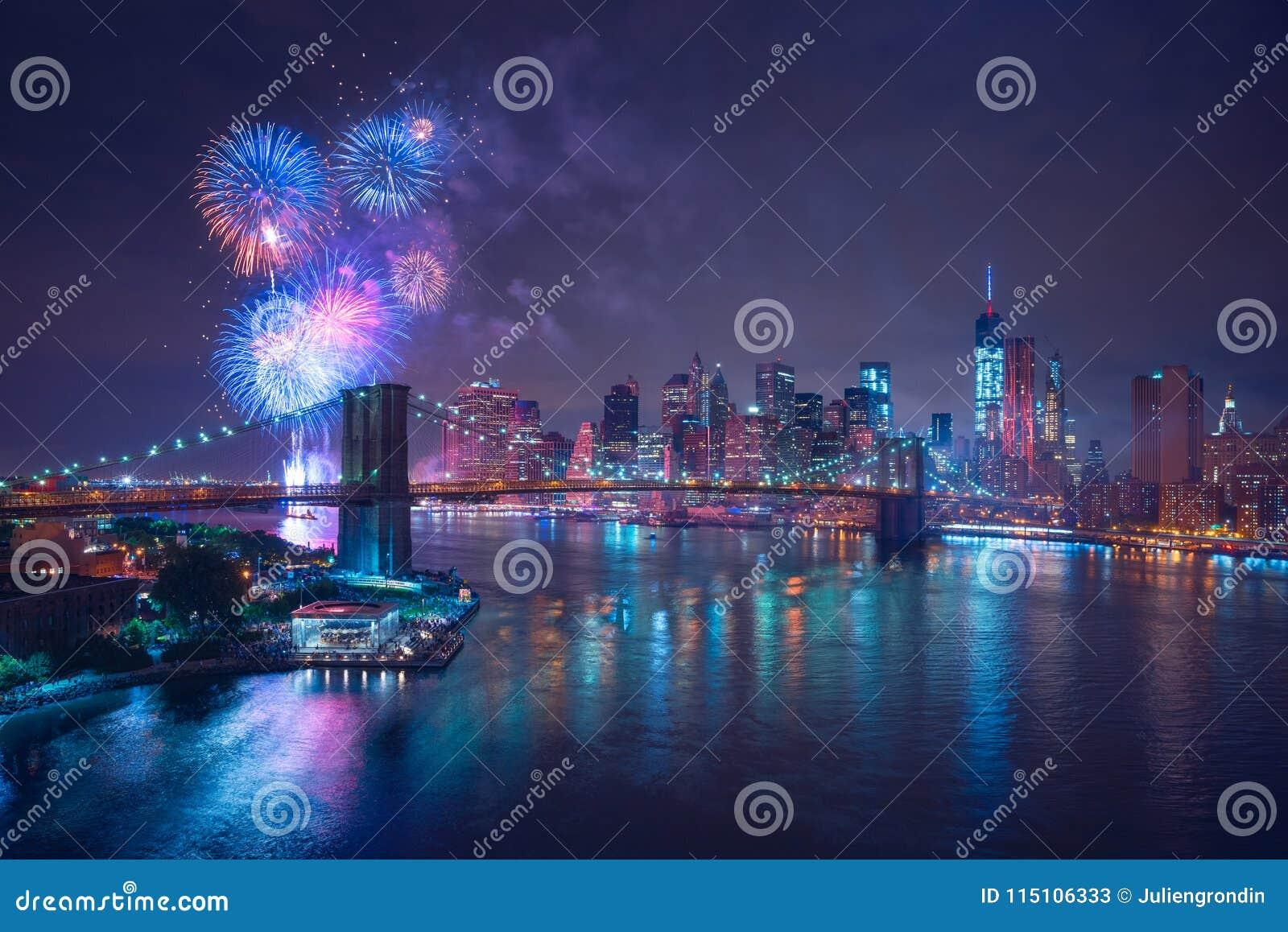 4th Lipów fajerwerki w Nowy Jork