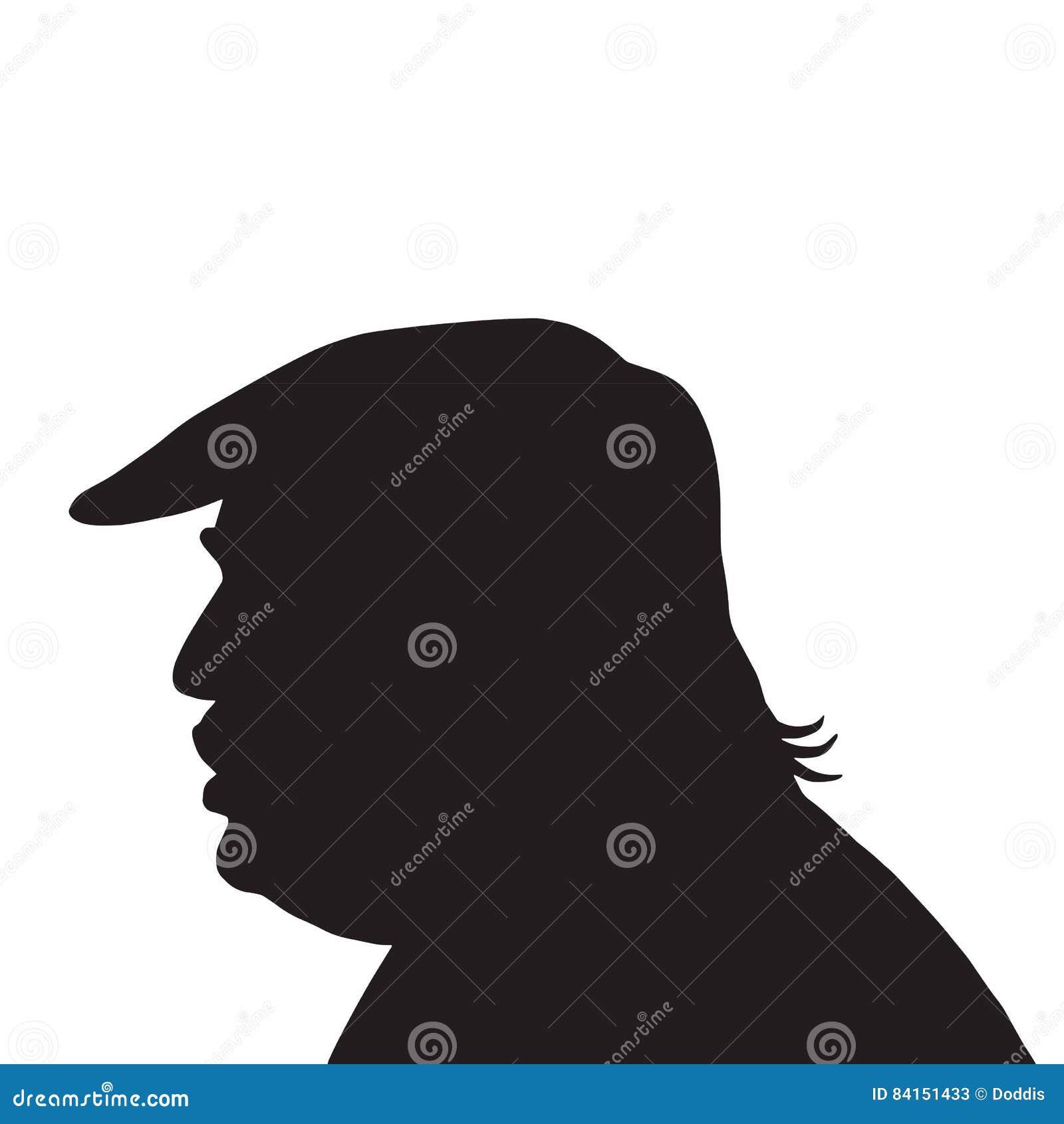 45th prezydenta stanów zjednoczonych Donald atutu portreta sylwetki ikona