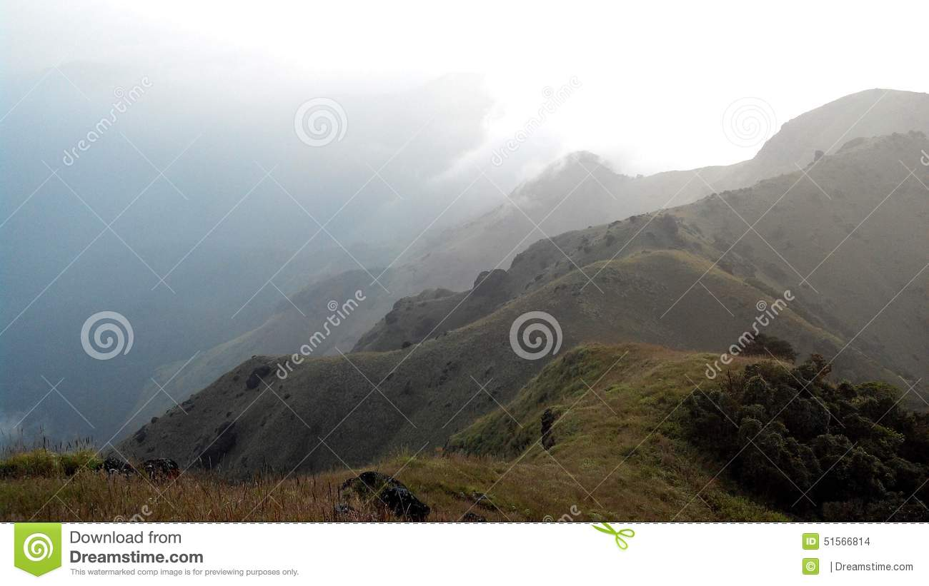 Thadiyandamol Mountain Peak, Coorg, India Stock Photo