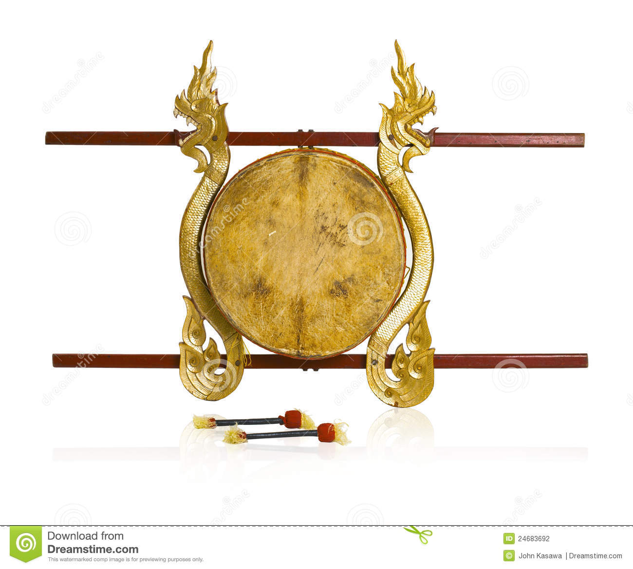 Thai Ancient Drums Music Instrument Stock Photography