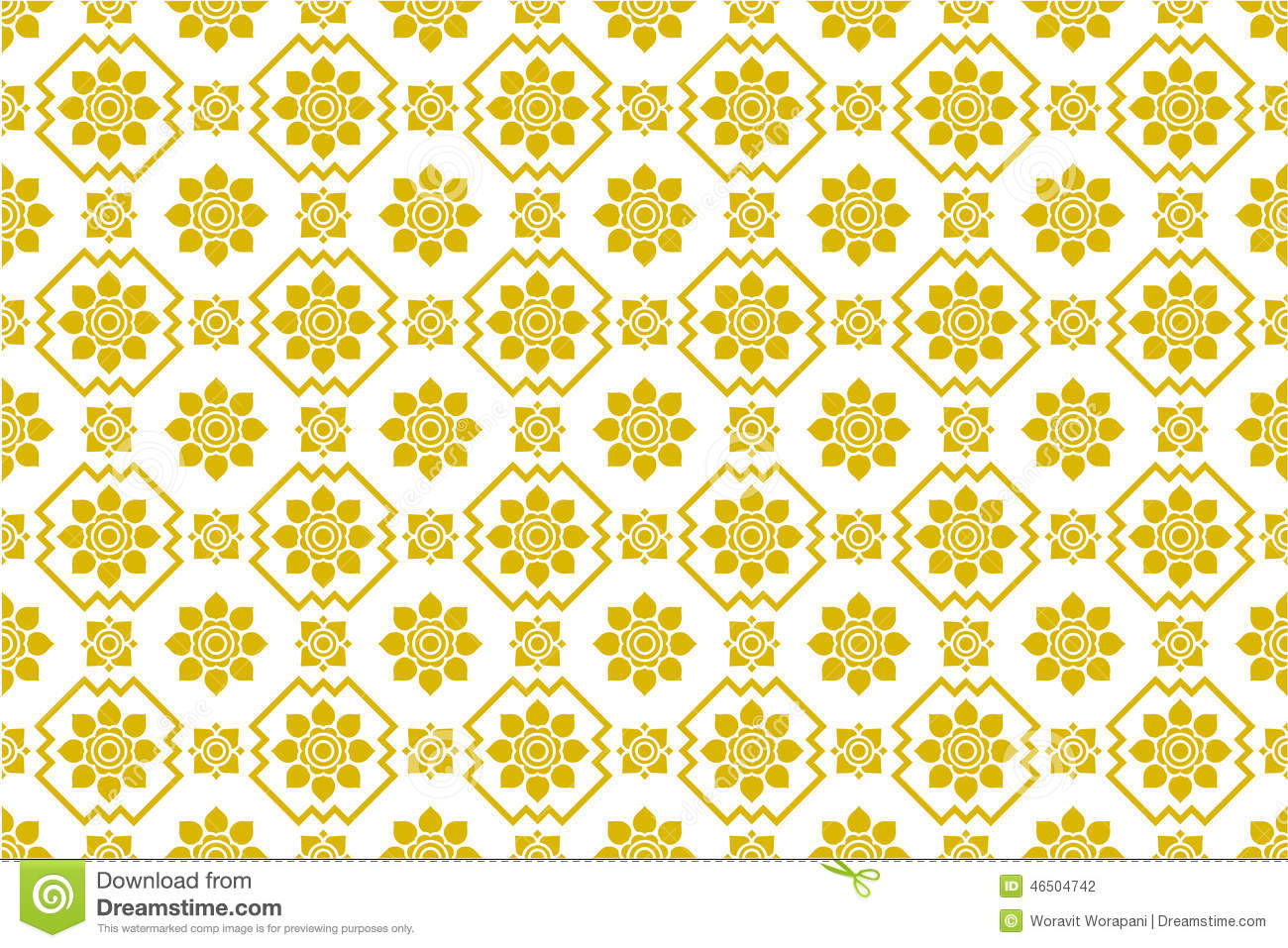 Seamless Thai Pattern, Repetitive Design From Thailand - Folk Art ...