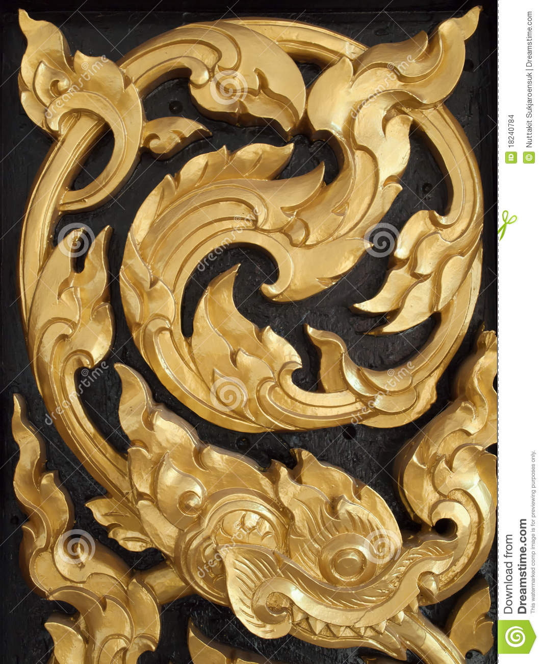 thai art wood carvings stock photo  image of decorate