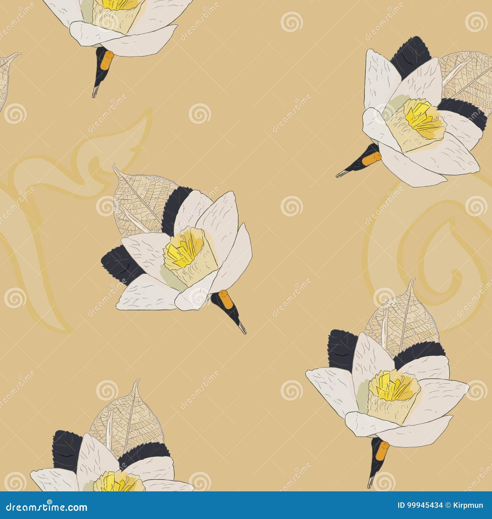 Thai Artificial Funeral Daffodil Flower Or Dok Mai Chan Hand D