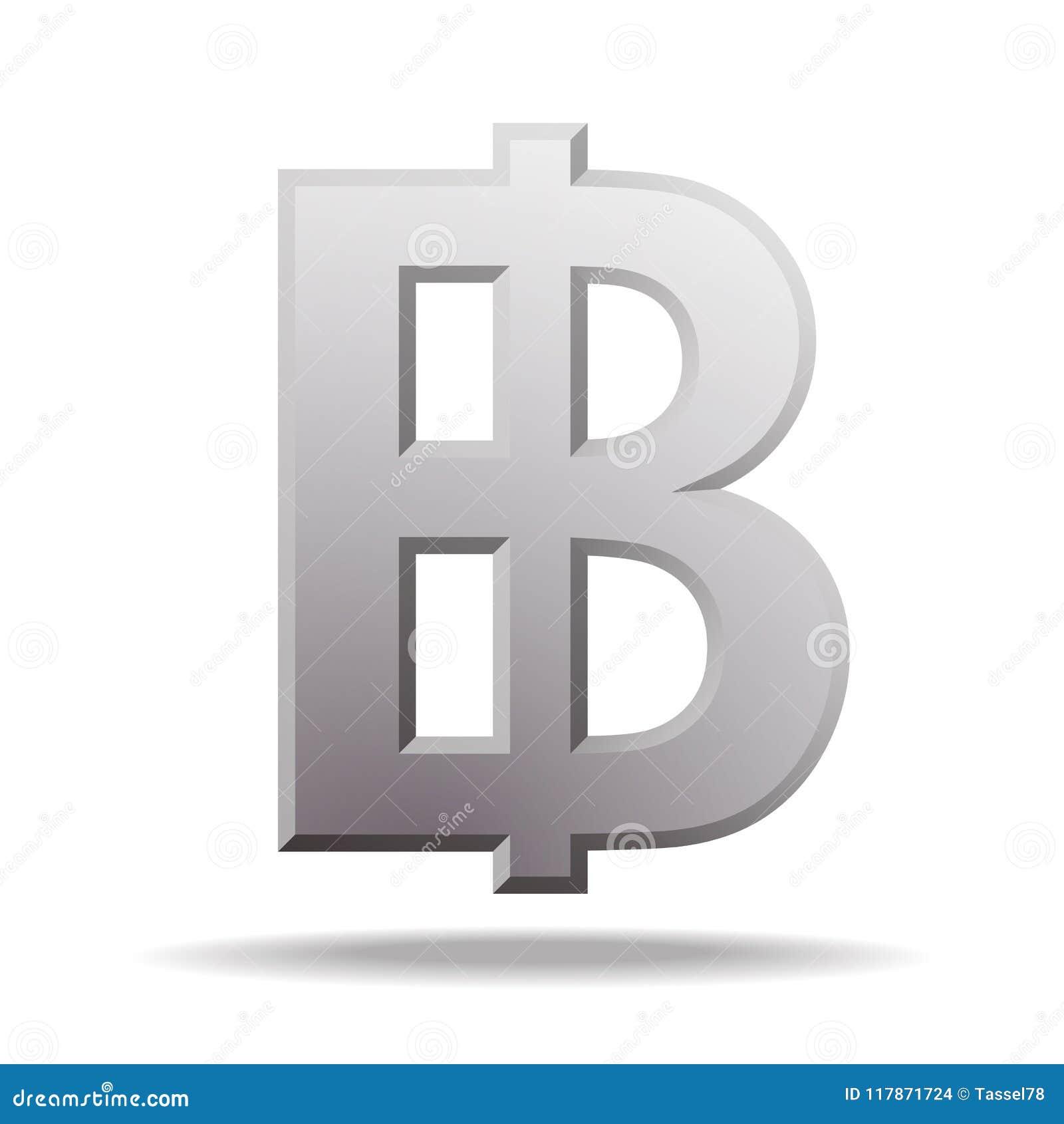 Thai Baht Currency Symbol Stock Vector Illustration Of Economy