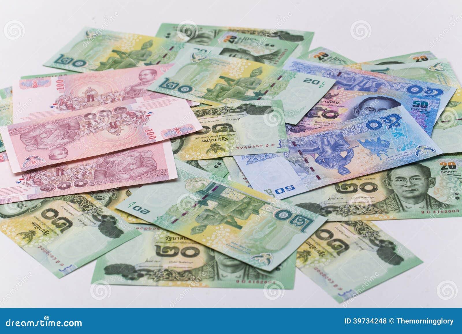 Thai Bath Close Up Of Money Stock Photo - Image of ...
