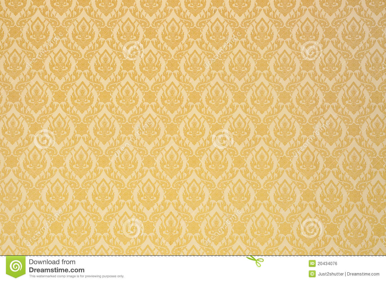 Thai Buddha Art Wall Pattern Royalty Free Stock Image