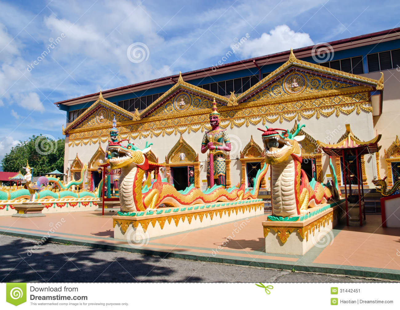 Thai Buddhist Temple In Penang Malaysia Stock Image
