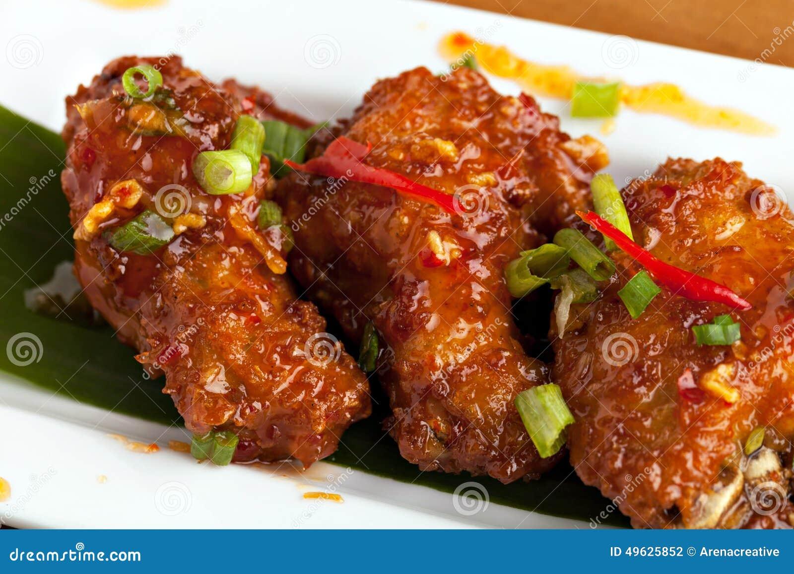 Thai Buffalo Wings Stock Photo - Image: 49625852