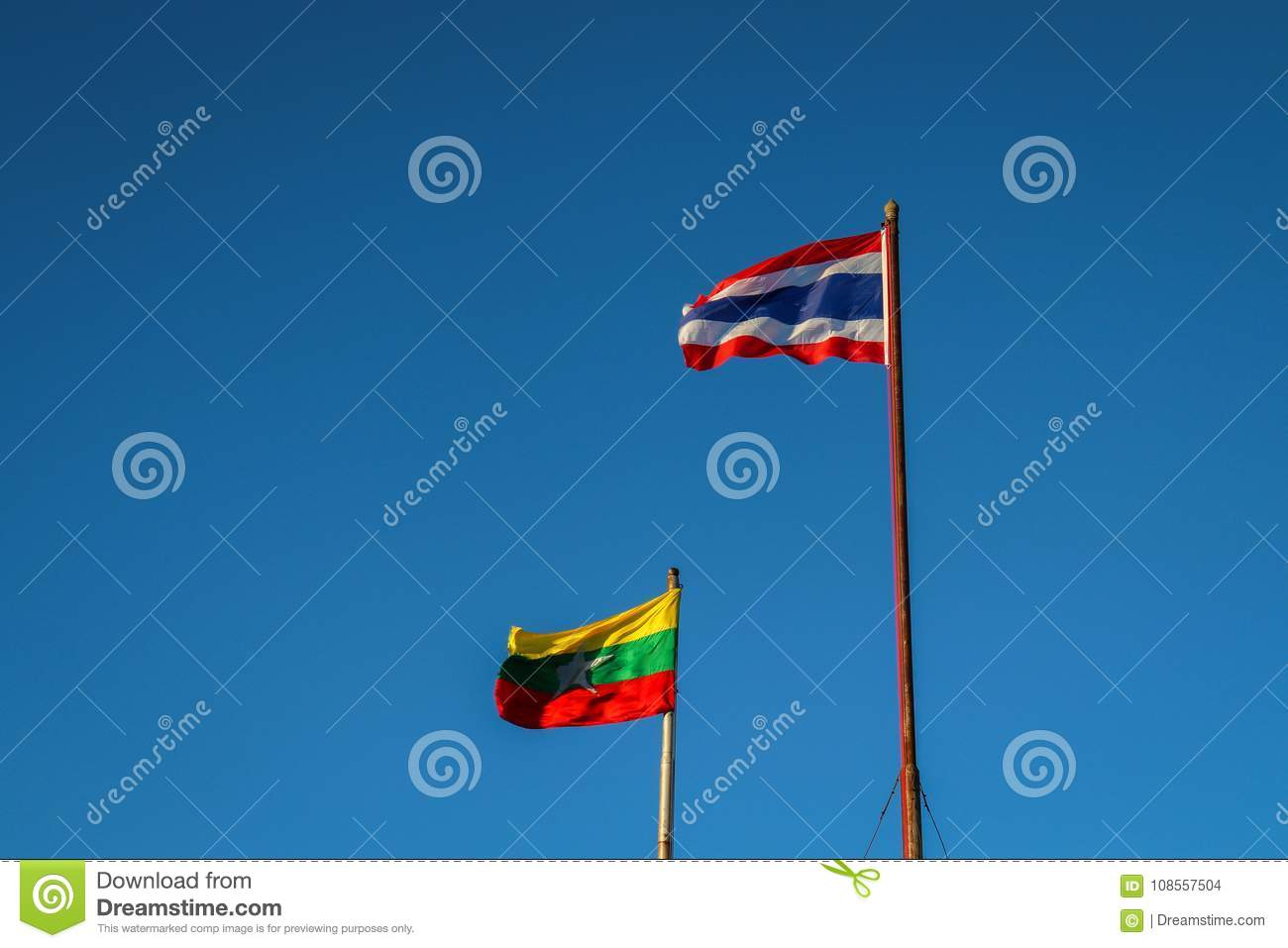 Thai-Burmese Flag