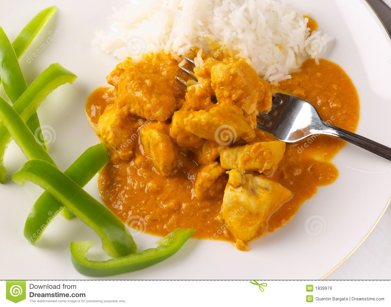 Thai Chicken Peanut Curry Royalty Free Stock Images - Image: 1839979