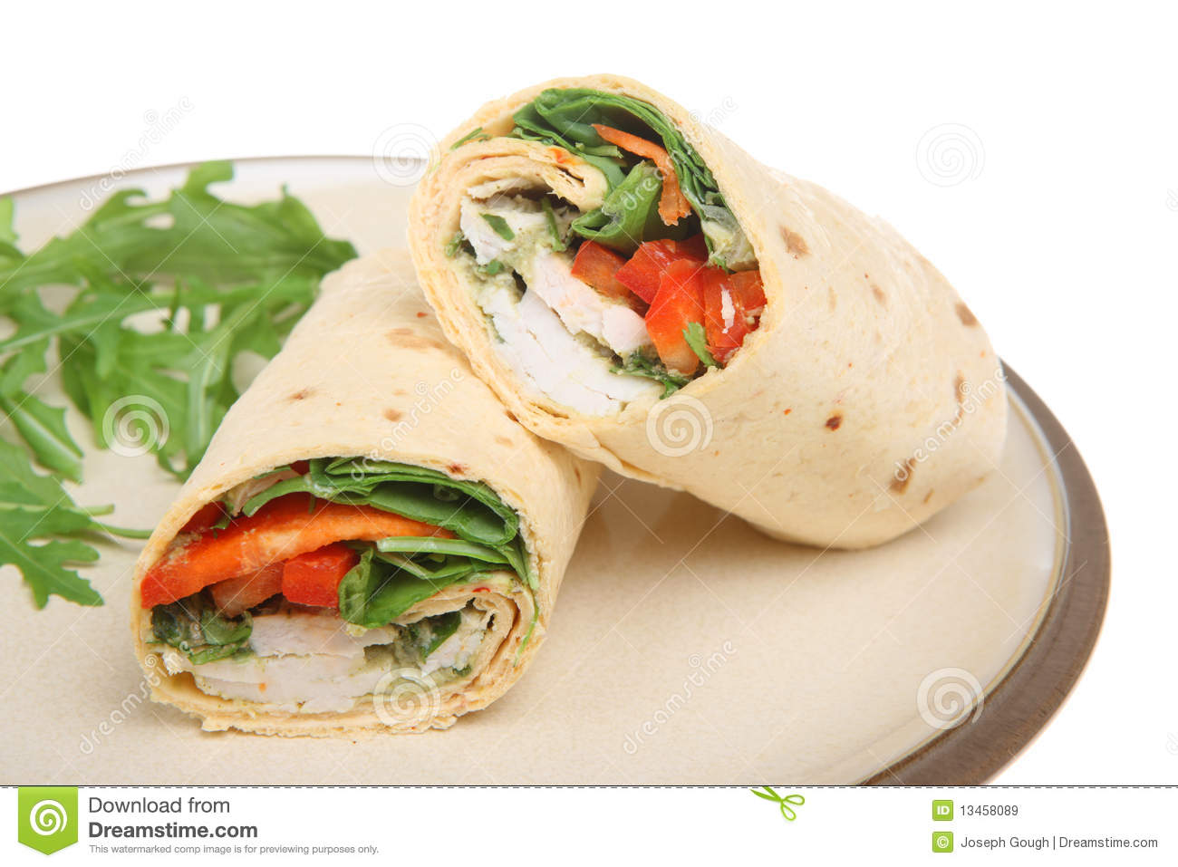 Thai Chicken Wrap Royalty Free Stock Images - Image: 13458089