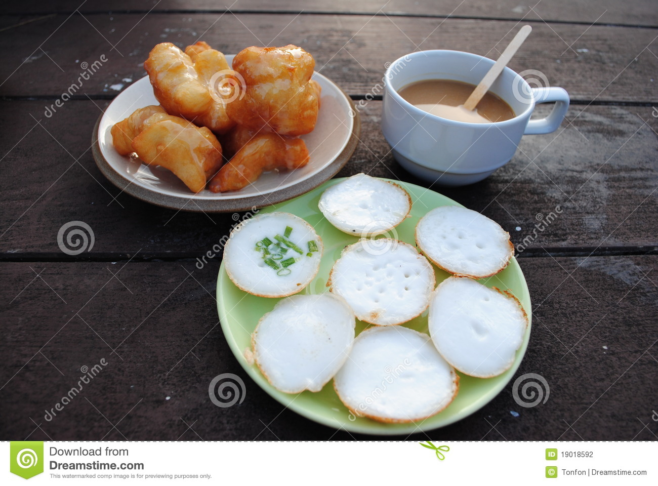 Thai Coconut Pudding With Coffee Stock Photography - Image: 19018592