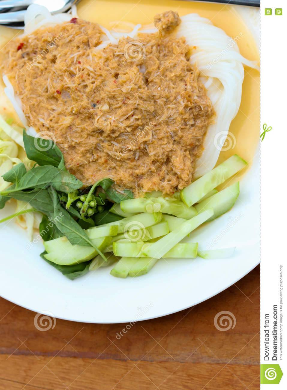 Fish with rice and vegetables stock photography for Crab topping for fish