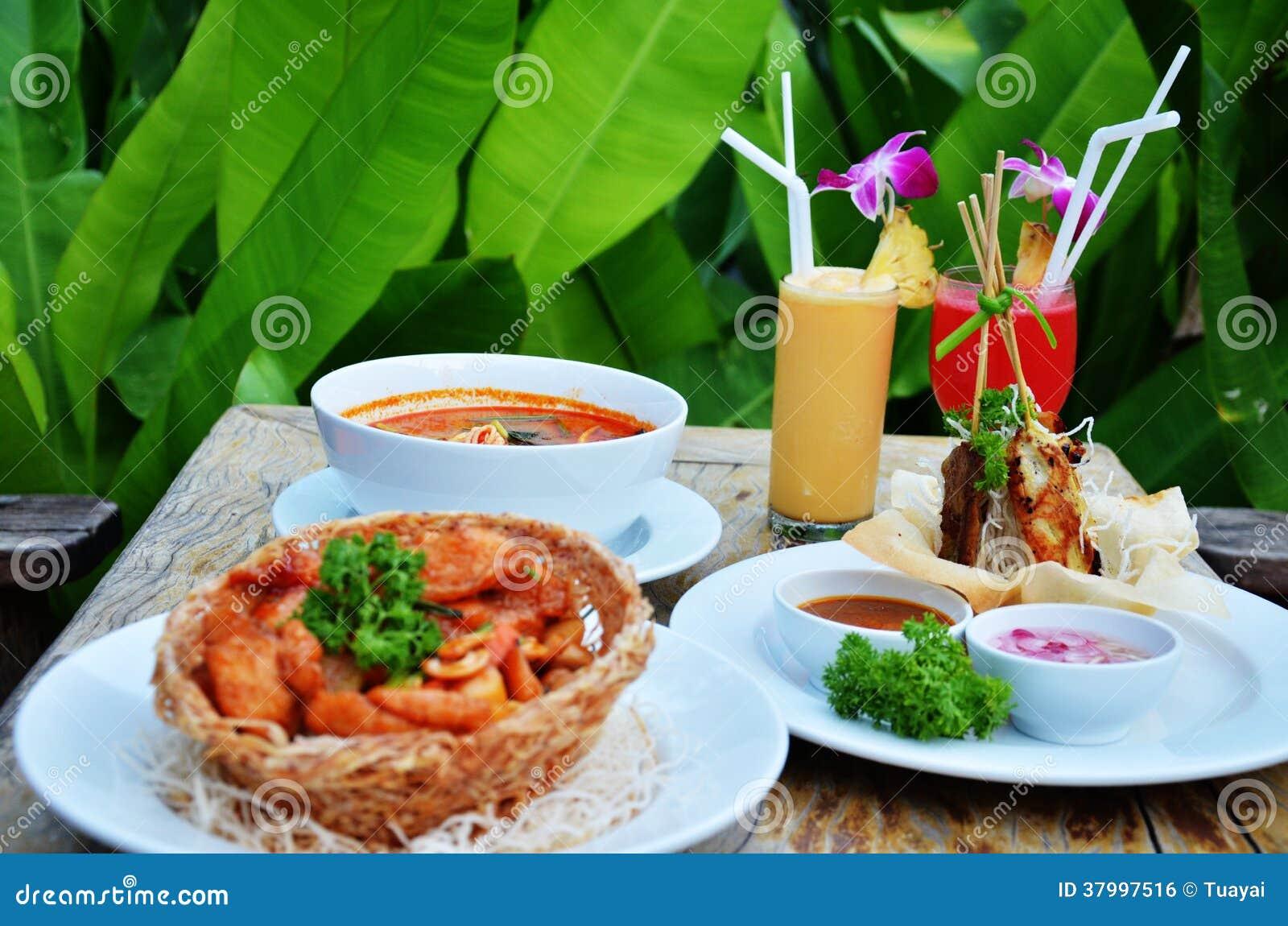 Thai cuisine set