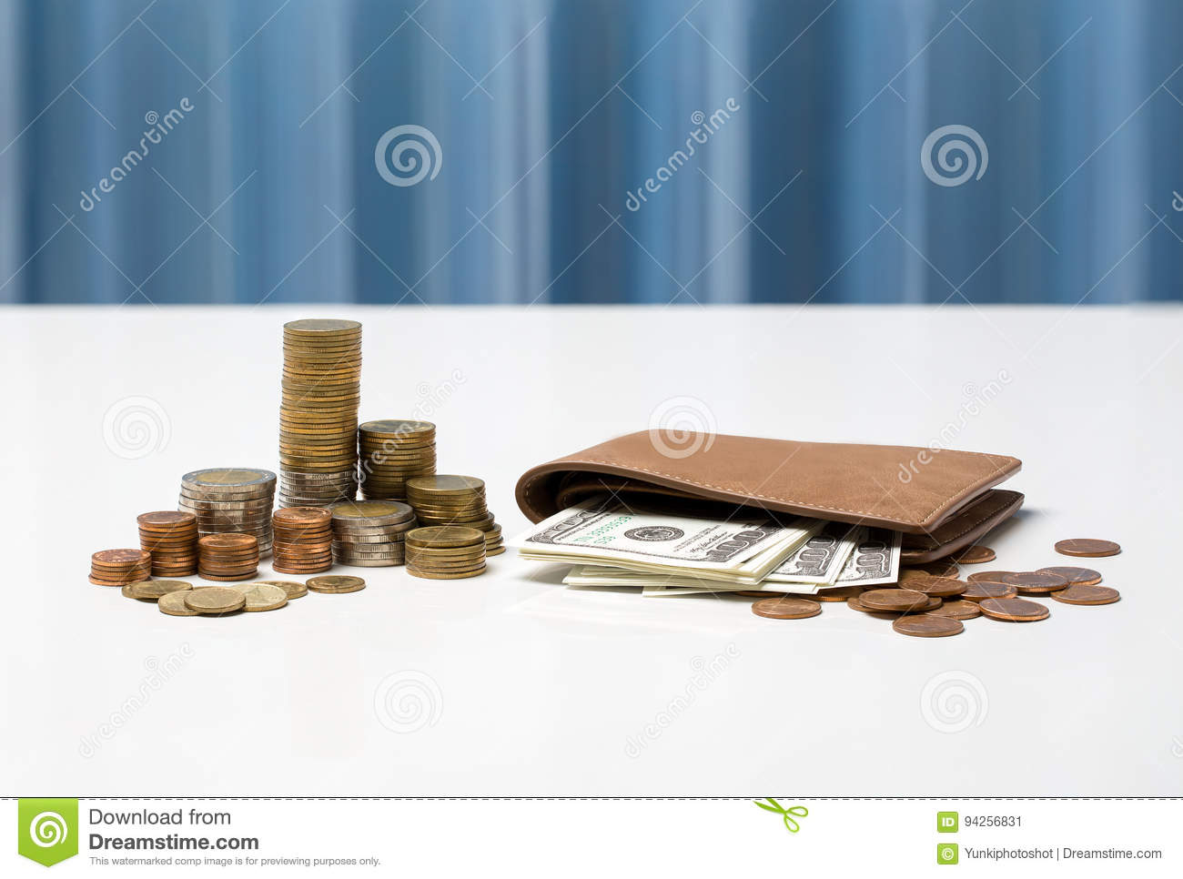 Thai currency exchange rate concept, fund information business i