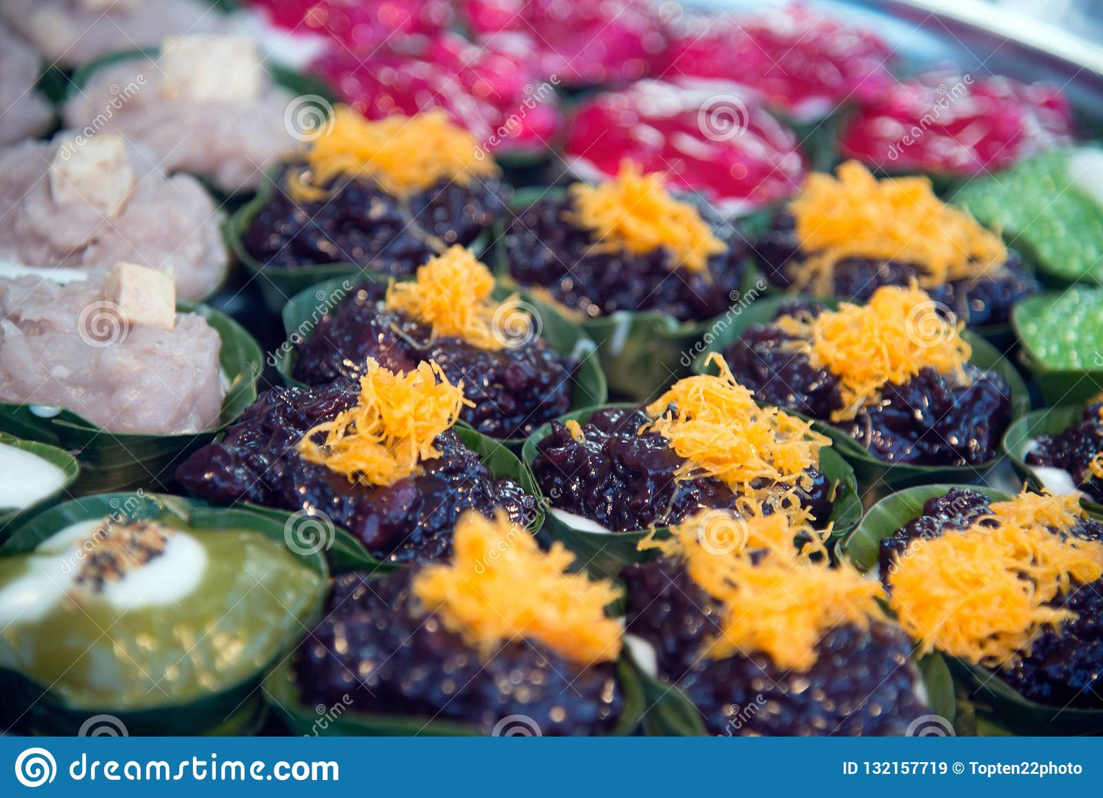 Thai Dessert Sweet Is Creamy Coconut Tapioca And Corn