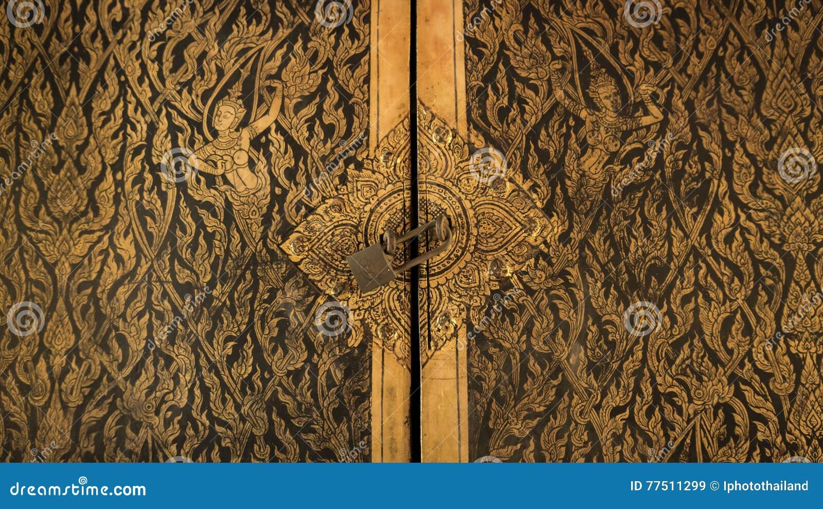 architecture bangkok door ... & Thai Door Art Architecture In Tripitaka Hall Wat Rakhang ... Pezcame.Com