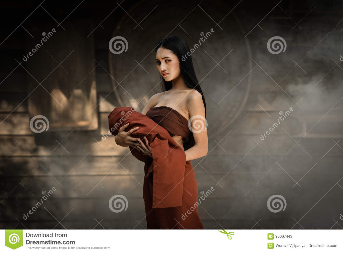 Thai dress Thai drama stock image  Image of hand, lady