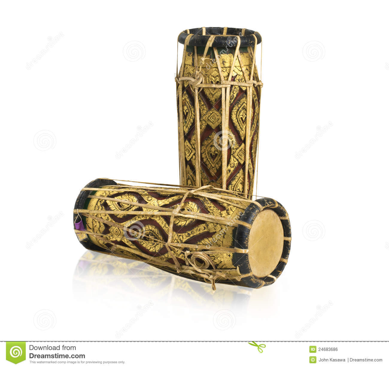Thai Drums Music Instrument Royalty Free Stock Image ...