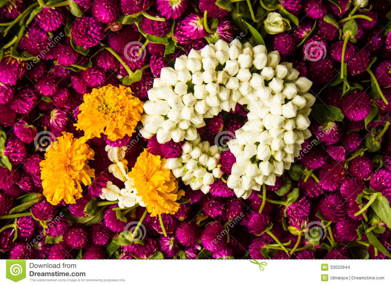 Thai flower decoration stock photo image of buddhist 33022944 for Photo decoration