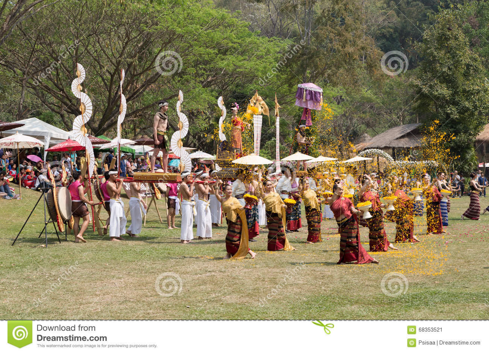 Thai Folk Dancer Showing Thailand Traditional Dance ...