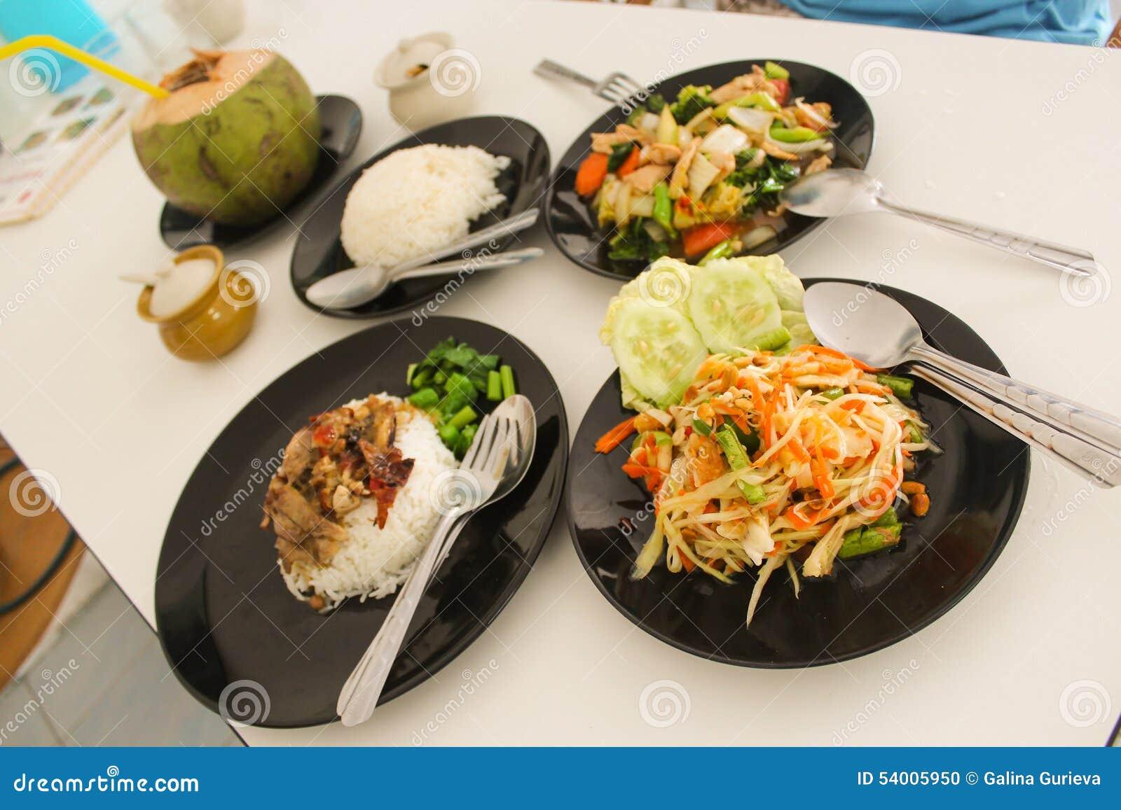 Thai food stock photo. Image of black, somtam, close ...