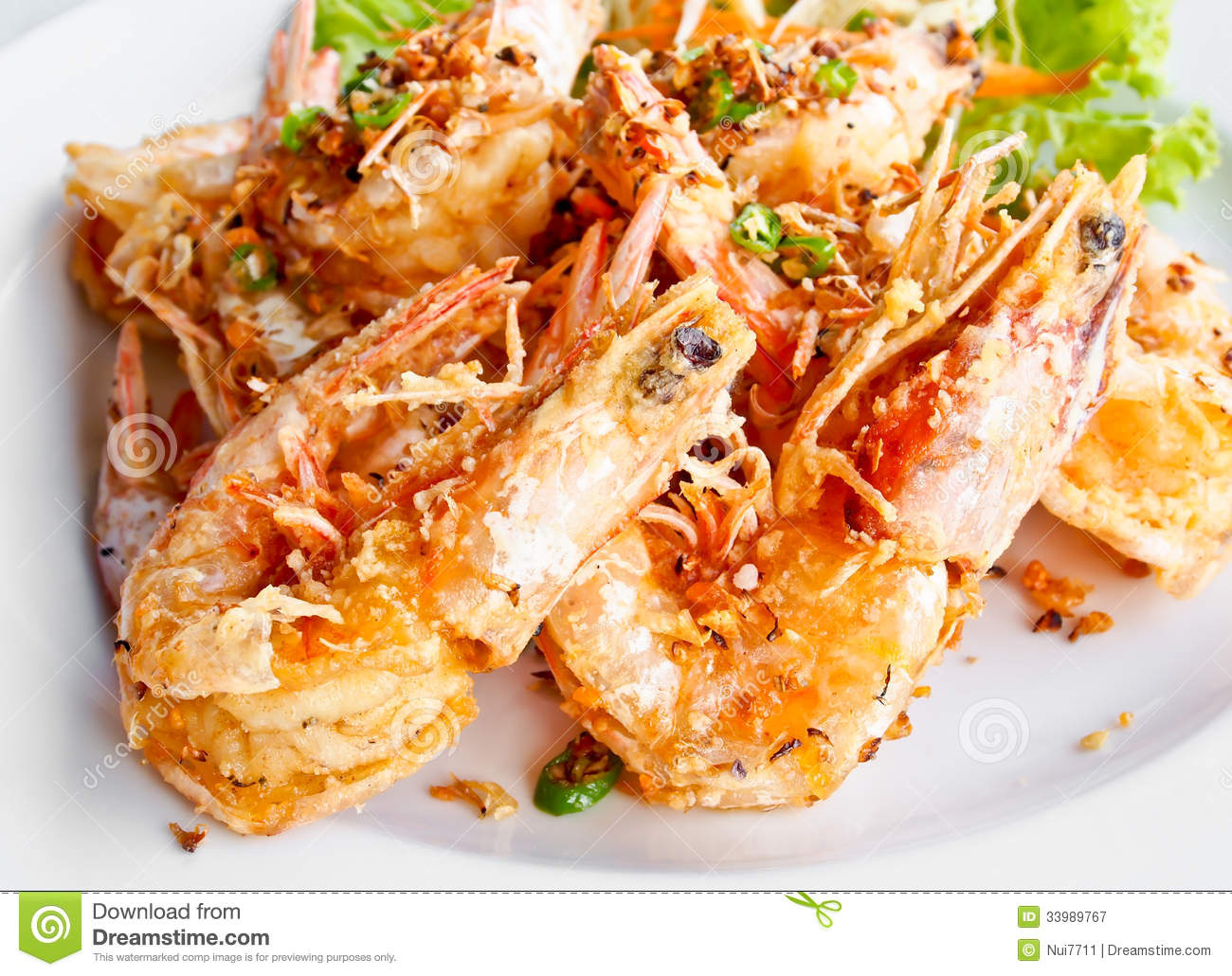 Thai Food, Fried Prawns With Garlic 3 Royalty Free Stock Photography ...: dreamstime.com/royalty-free-stock-photography-thai-food-fried...